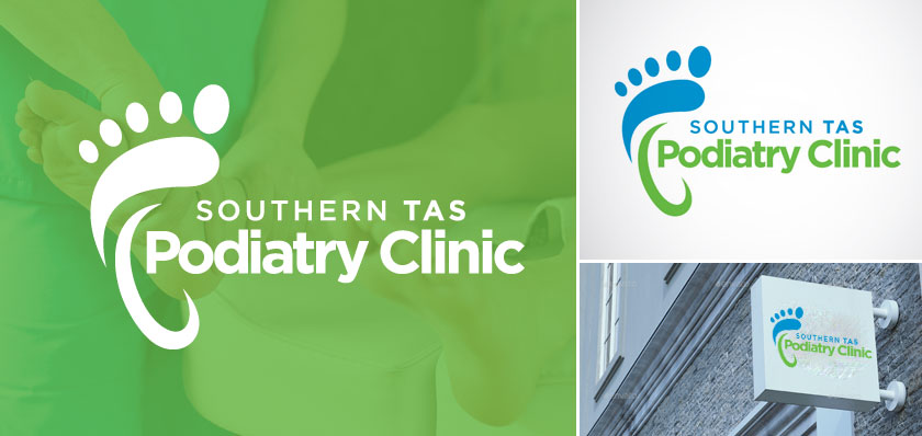 Southern TAS Podiatry Clinic logo design