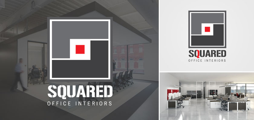 Squared office interiors logo design