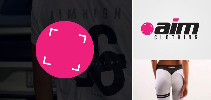 aim clothing logo design