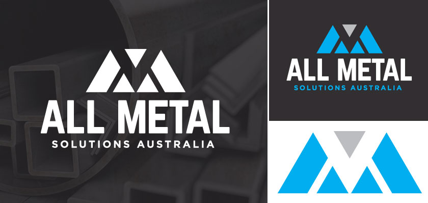 all metal solutions australia logo design