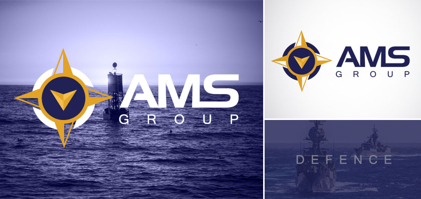 AMS group logo design