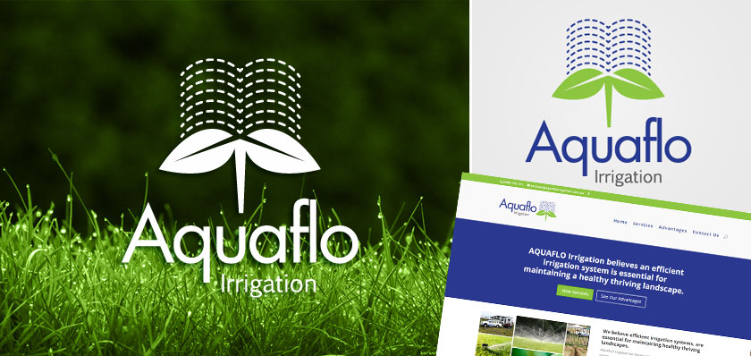 aquaflo irrigation logo design