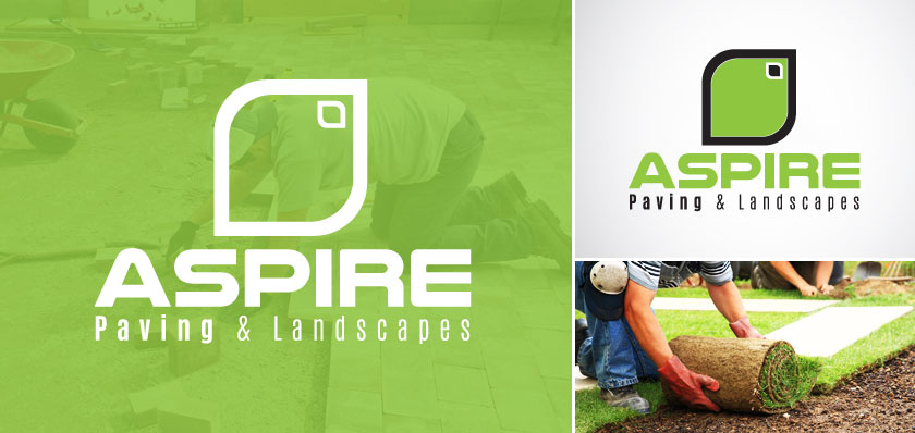 Aspire landscapes paving logo design