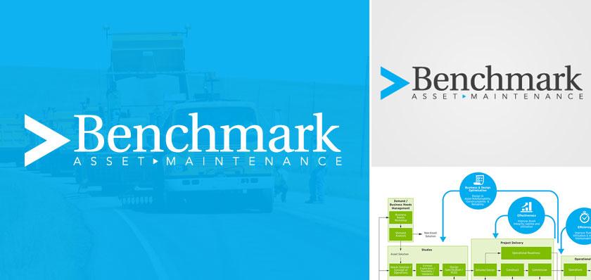 benchmark asset logo design