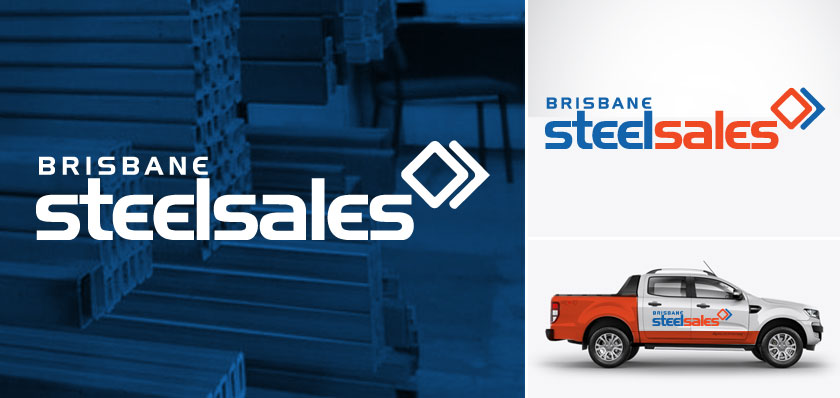 brisbane steel sales logo design