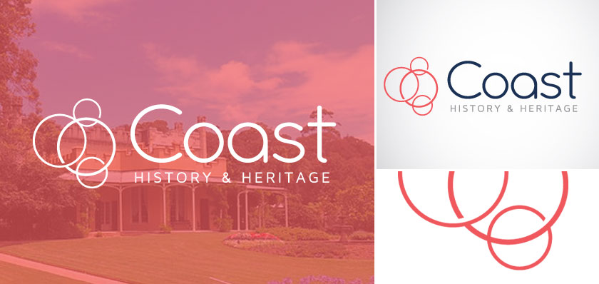 coast history logo design