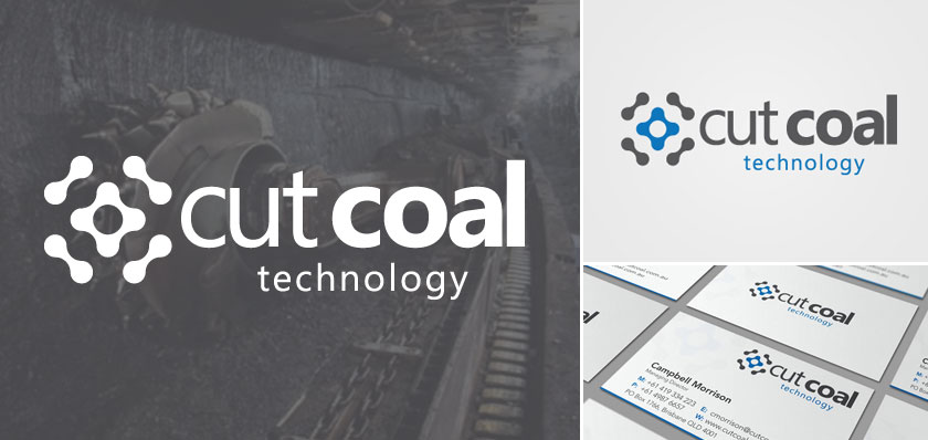 cutcoal tech logo design