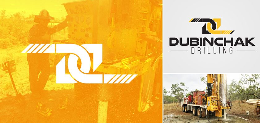 dubinchak drilling logo design
