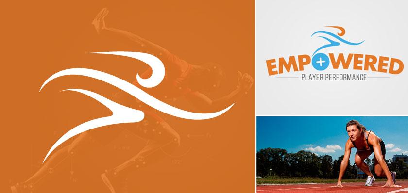 empowered player logo design