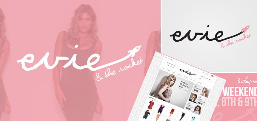 evie and the rocket logo design