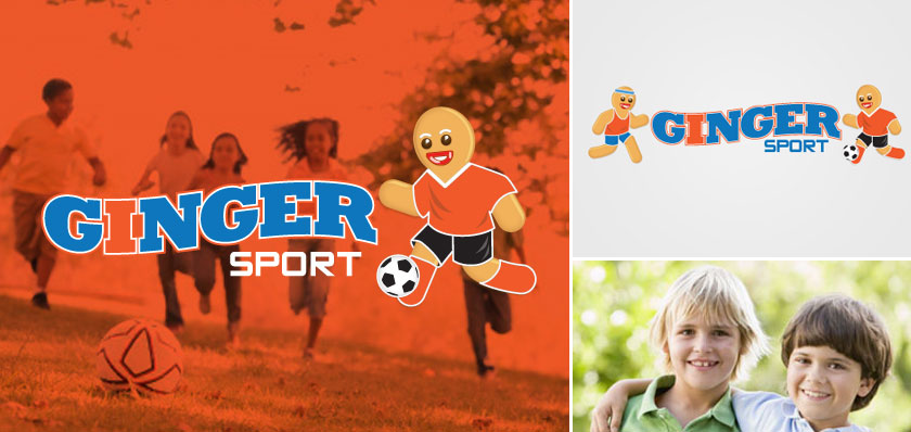 Ginger sport logo design