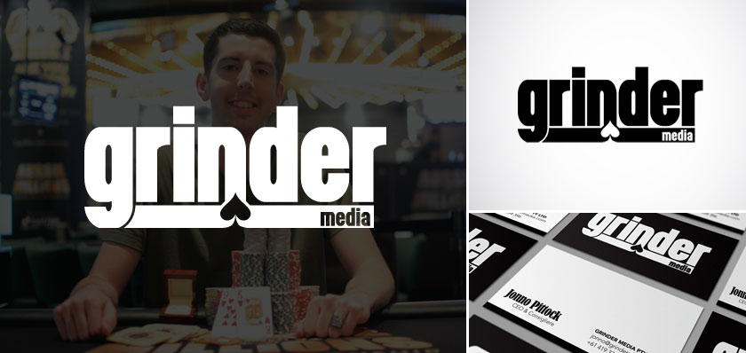 grinder media logo design