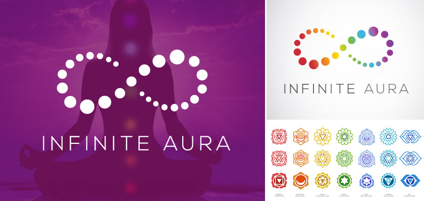 infinite aura logo design