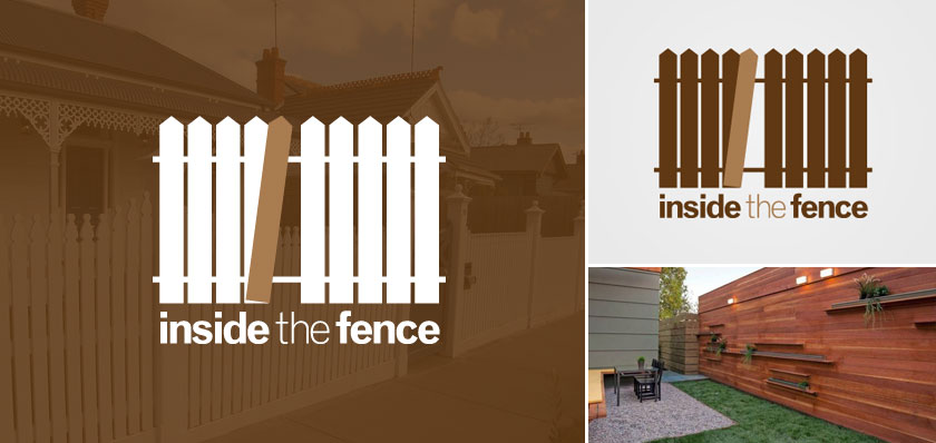 inside the fence logo design