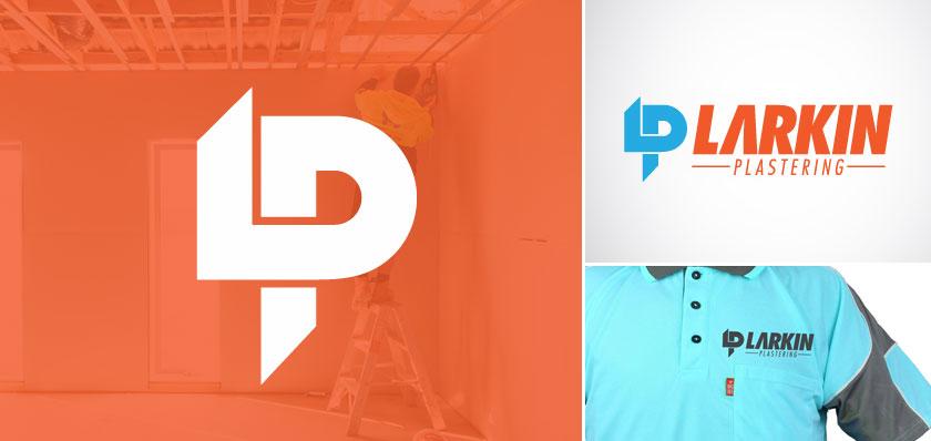 larkin plastering logo design