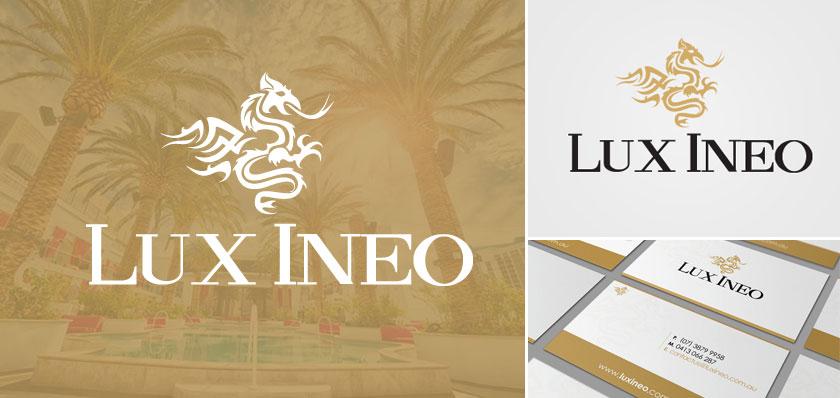 lux ineo logo design
