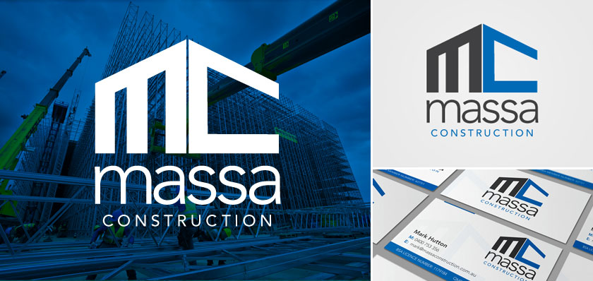 Massa construction logo design