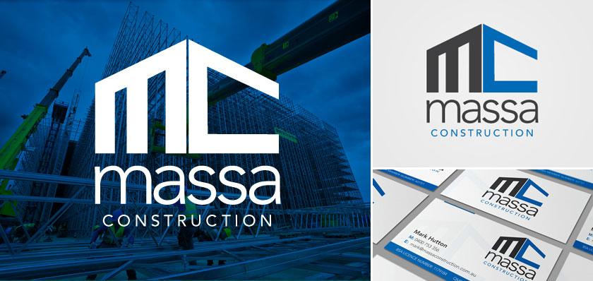 Massa construction logo design
