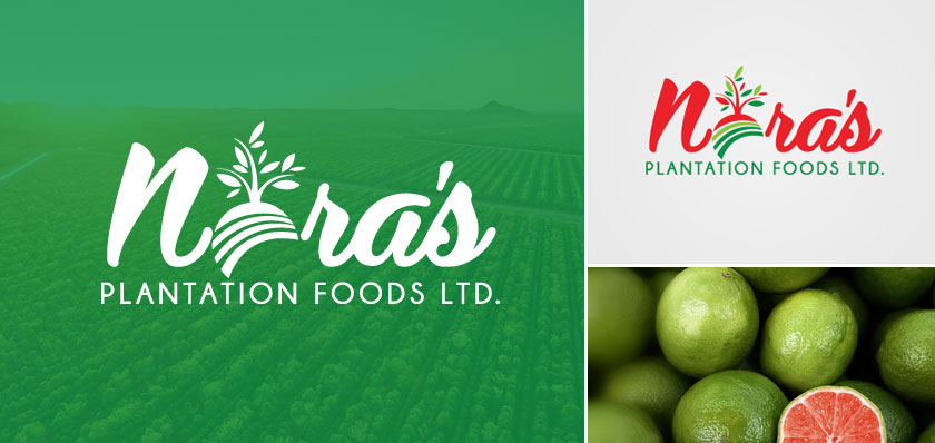 Nora's Plantation Foods logo design