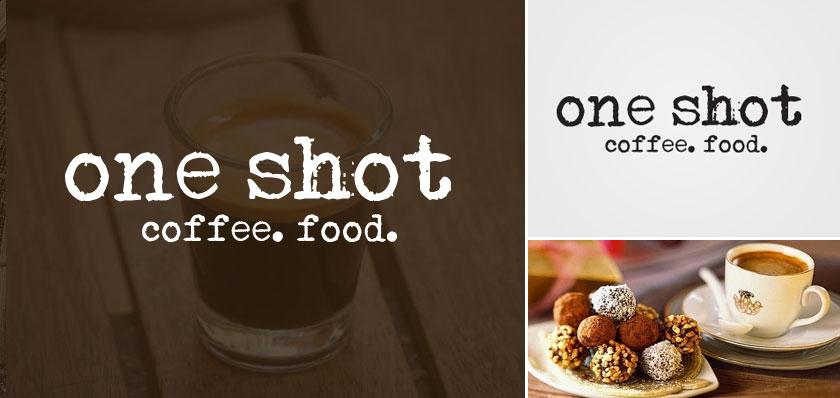 oneshot coffee logo design