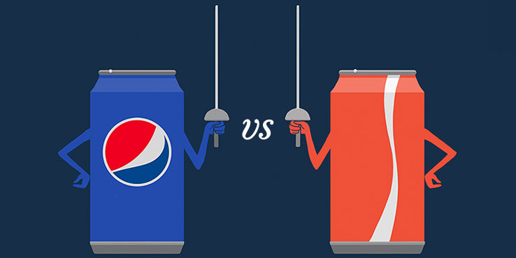 pepsi vs coke-a-cola branding