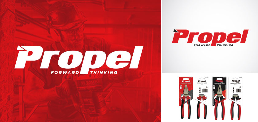 propel tools logo design