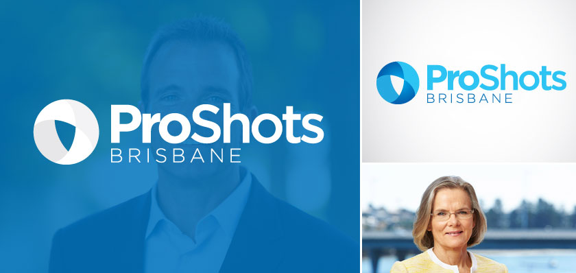proshots brisbane logo design