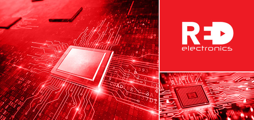 red electronics logo design