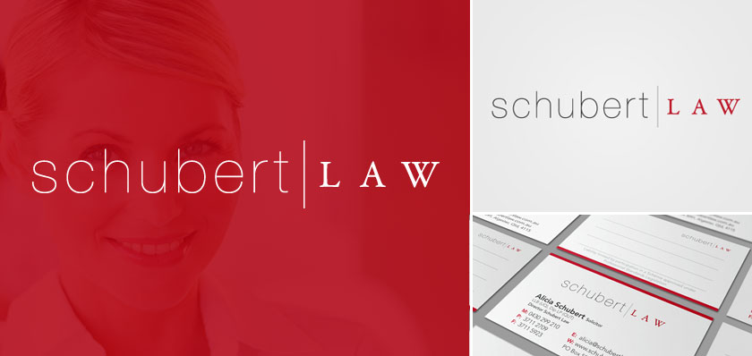 schubert law logo design