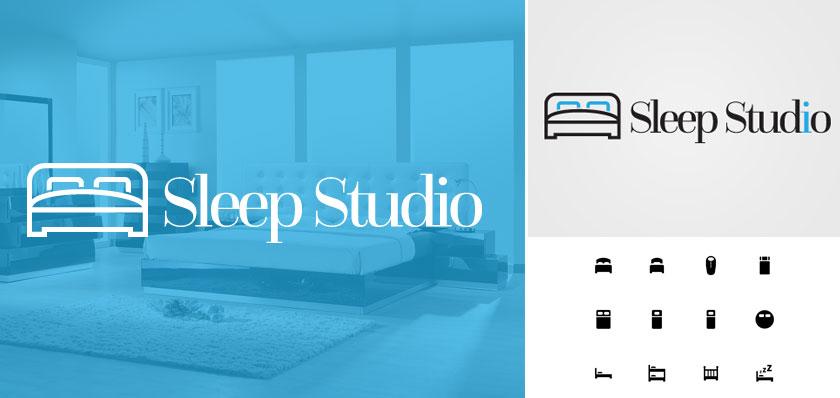 sleep studio logo design