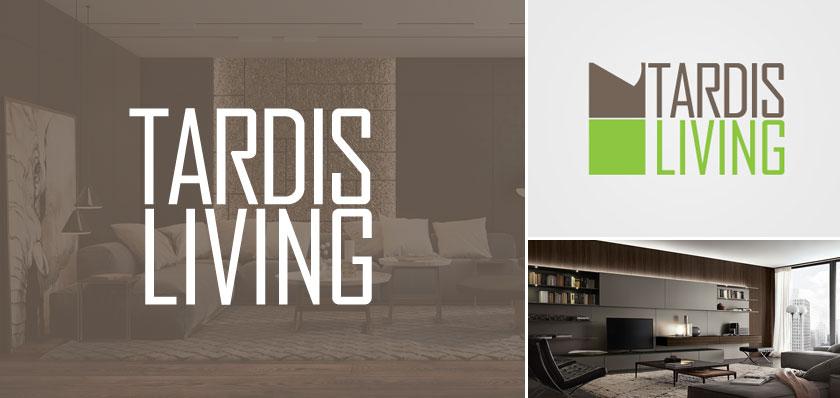 tardis living logo design