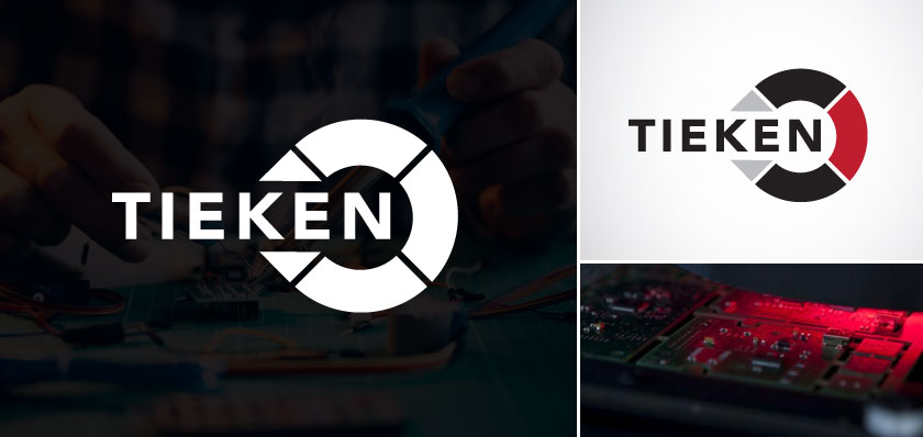 tieken electrical services logo design