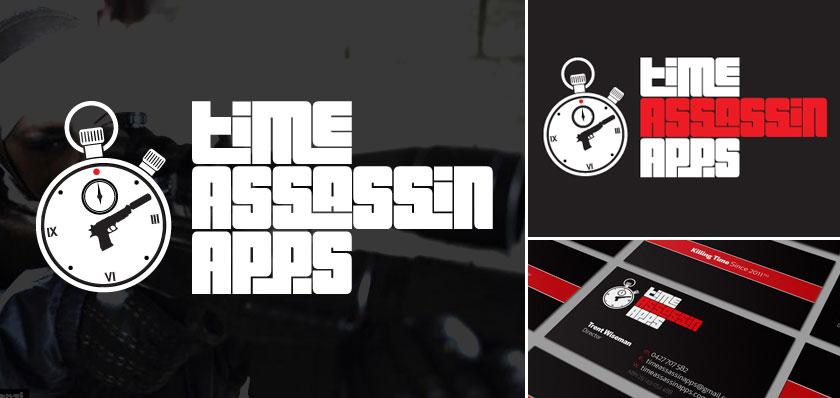 Time assassin apps logo design