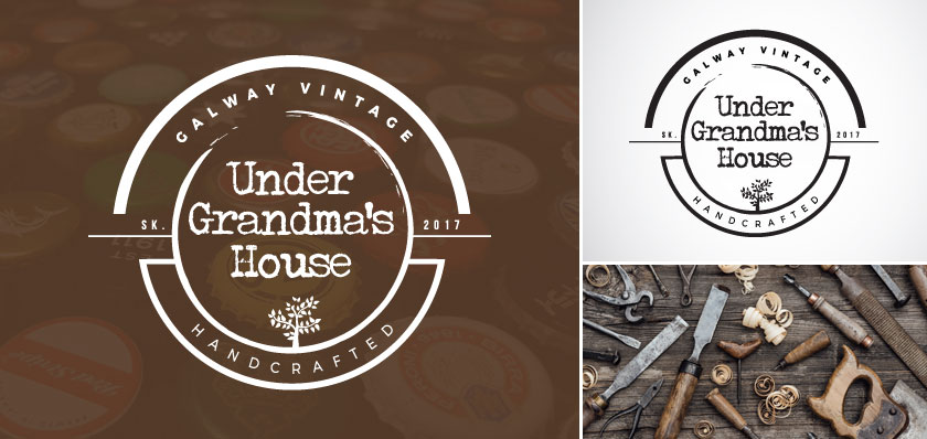 under grandmas house logo design