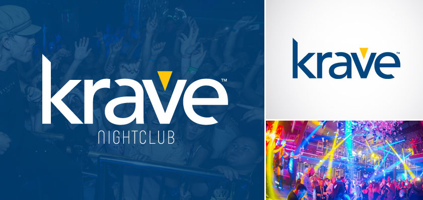 krave nightclub logo design